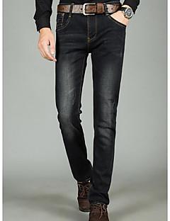 billige Herrebukser og -shorts-Herre Bukser Tynn Jeans Bukser Ensfarget