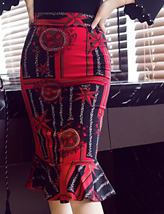 voordelige Damesrokken-Dames Chic & Modern Rok & jurk Rokken - Multi Kleur Reactieve Print