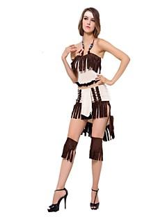 Prinsesse Etnisk/Spirituell Cosplay Kostumer Kvinnelig Halloween Karneval Nytt År Oktoberfest Festival/høytid Halloween-kostymer Gul