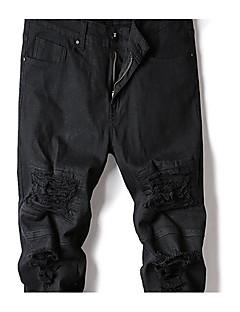 Herre Punk & Gotisk Bukser Bukser,Bukser Mellomhøyt liv Ensfarget