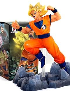 billige Anime cosplay-Anime Action Figurer Inspirert av Dragon Ball Goku PVC CM Modell Leker Dukke