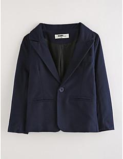 tanie Odzież dla chłopców-Garnitur / marynarka Bawełna Dla chłopców Jendolity kolor Długi rękaw Navy Blue