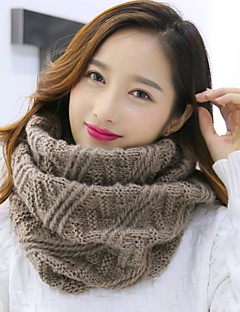 Women's Knitwear Infinity Scarf Solid Fall Winter