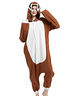 Kigurumi Pyjamas Anime Tegneserie Kostume Brun Polar Fleece Kigurumi Trikot / Heldraktskostymer Cosplay Festival / høytid Pysjamas med