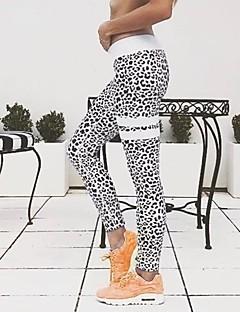 Mulheres Animal Média Estampada Legging,Branco