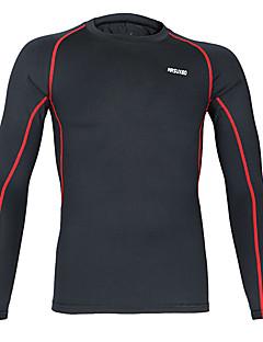billiga Träning-, jogging- och yogakläder-Arsuxeo Herr Rund hals Kompressionströja - Svart / röd, Grå, Gul / Svart sporter T-shirt / underställ / Kompressionskläder Yoga, Motion &