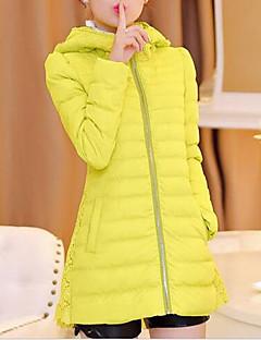 Damen Daunen Mantel,Standard Einfach Lässig/Alltäglich Solide-Baumwolle Polypropylen Langarm