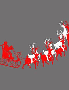 人 動物 クリスマス ウインドウステッカー,PVC /ビニール 材料 窓の飾り