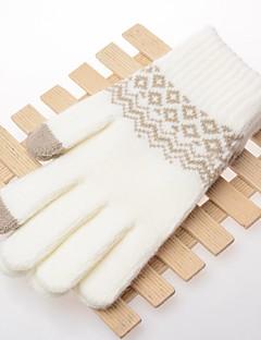 Women's Knitwear Wrist Length Fingertips,Work Casual Print Winter
