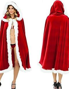 サンタスーツ サンタクロース クローク 女性用 クリスマス イベント/ホリデー ハロウィーンコスチューム ソリッド