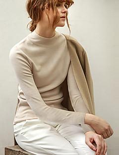 Χαμηλού Κόστους Chic Sweaters Sale-Γυναικεία Μακρυμάνικο Πουλόβερ - Μονόχρωμο
