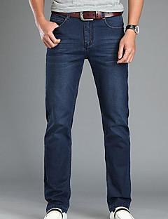 Herre Bukser Jeans Bukser,Jeans Ensfarget