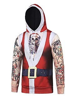 billige julen Kostymer-Snømann julenissen Hattetrøje Herre Dame Jul Festival / høytid polyester Drakter Rød Stripet Jul
