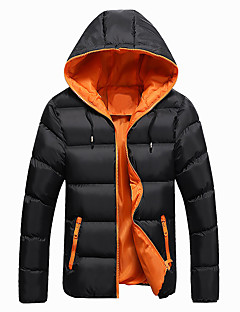 cheap Men's Downs & Parkas-Men's Sports Cotton Padded - Color Block