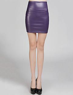 お買い得  レディーススカート-女性用 ワーク スカート スカート - ソリッド ファッション セクシー, セクシー