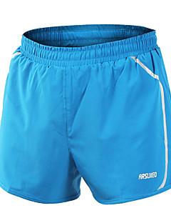 Arsuxeo Homme Shorts de Course Séchage rapide Diminue Irritation Matériaux Légers Bandes Réfléchissantes Cuissard  / Short Bas pour Yoga