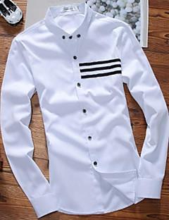 Annet Langermet,Skjortekrage Skjorte Trykt mønster Gatemote Fritid/hverdag Herre