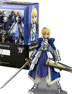 billige Anime cosplay-Anime Action Figurer Inspirert av Skjebne / Grand Order Saber PVC CM Modell Leker Dukke