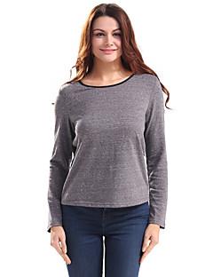 Feminino Camiseta Feriado Casual Vintage Moda de Rua Primavera/Outono Primavera/Outono/Inverno/Verão,Estampa Colorida Vintage Algodão