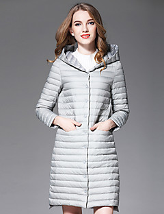 コート レギュラー ダウン レディース,お出かけ プラスサイズ ソリッド ポリエステル シンプル ストリートファッション モダンシティ 長袖