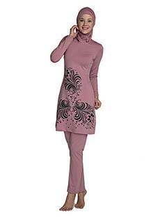 Χαμηλού Κόστους Μπούρκα-Γυναικεία Λουλούδι Tankini Μαγιό Ανθισμένο Ροζ Κρασί Βαθυγάλαζο