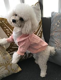billiga Hundkläder-Katt Hund Kappor Tröjor Huvtröjor Prydnader Hundkläder Vit Röd Rosa Cotton Kostym För husdjur Fest Ny Ledigt/vardag Håller värmen Fritid