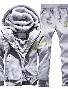 Pánské Aktivní Kalhoty - Tisk Tisk Námořnická modř   Kapuce   Sport    Dlouhý rukáv   Zima 4609d4e94e