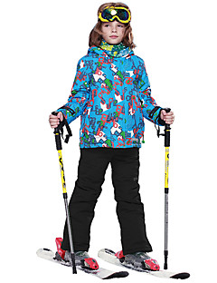 Calças & Jaquetas de Esqui Para Meninos Esqui Esportes de Neve Quente Secagem Rápida Prova-de-Água Térmico/Quente A Prova de Vento