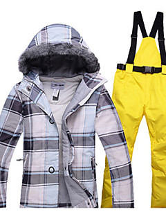 Dames Ski-jack & broek Warm waterdicht Winddicht Draagbaar Antistatisch Ademend Skiën Wandelen Langlauf Katoen Milieuvriendelijk Polyester