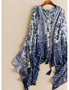 Women's Cotton Rectangle Print All Seasons