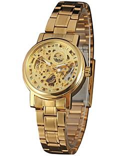 b235f86bde3 WINNER Mulheres Relógio Esqueleto Relógio de Pulso Automático - da corda  automáticamente Aço Inoxidável Prata   Dourada 30 m Gravação Oca Analógico  senhoras ...