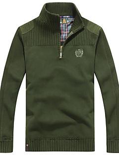 Herren Standard Pullover-Lässig/Alltäglich Einfach Solide Rollkragen Langarm Polyester Mittel Mikro-elastisch