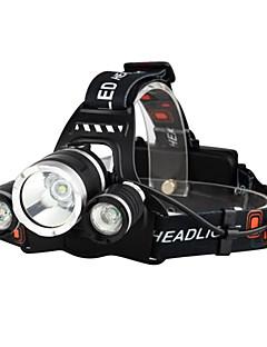 povoljno Biciklizam-Svjetiljke za glavu Svjetla za bicikle Svjetlo za bicikle LED Cree® XM-L T6 3 emiteri 3000 lm 4.0 rasvjeta mode s baterijama i punjačima Vodootporno, Otporan na udarce, Može se puniti Kampiranje