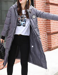 Damen Gefüttert Mantel Street Schick Ausgehen Lässig/Alltäglich Solide-Polyester Polyester Langarm