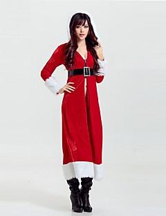 billige julen Kostymer-Nisse drakter Mrs.Claus Jakke Dame Jul Festival / høytid Halloween-kostymer Rød Sexy dame