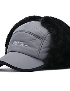 billige Trendy hatter-Herre Fritid Skilue,Vinter Lapper Bomull Elegant Svart Grå