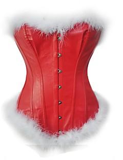 billige Moteundertøy-kvinners blonder opp overbust korsett-solid, backless