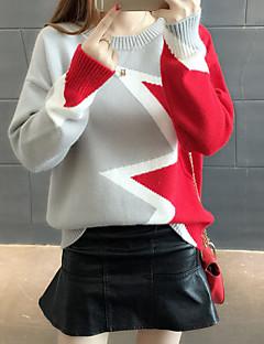 Ženske Dnevno Regularna Pullover,Color block Okrugli izrez Dugih rukava Akril Zima Jesen Mikroelastično Srednje