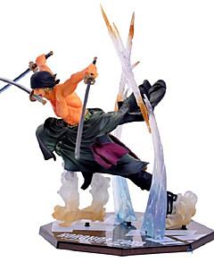 billige Anime cosplay-Anime Action Figurer Inspirert av One Piece Roronoa Zoro PVC 13 CM Modell Leker Dukke