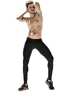 billige Løbetøj-Herre Løbetights Strækkende Tights / Bukser Yoga / Træning & Fitness / Løb Nylon Sort / Rød / Blå M / L / XL