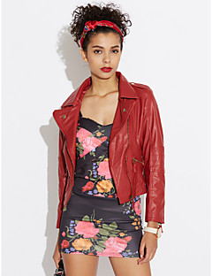 Women's Daily Going out Street chic Punk & Gothic Spring Fall Leather Jacket