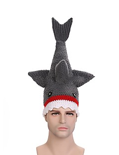 cheap Halloween Props-Shark Hats Gray Bonded Cosplay Accessories Christmas Halloween