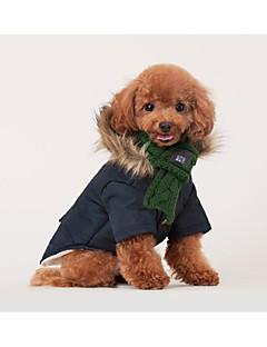 billiga Hundkläder-Katt Hund Hundsjal Hundkläder Enfärgad Röd Grön Annat material Kostym För husdjur Stilig Ledigt/vardag Håller värmen