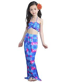 billige Barnekostymer-The Little Mermaid Skjørt Badetøy Barne Halloween Festival / høytid Halloween-kostymer Lilla Havfrue Halloween