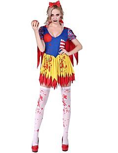 billige Halloweenkostymer-Klassisk og Tradisjonell Lolita Elegant Dame Maskerade Cosplay Gul Kappeerme Kortermet Kort / mini Mini