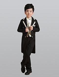 tanie Garnitury dla małych dróżbów-Gold Silver Poliester Garnitur dla małego drużby - 6 Zawiera Marynarka Pas Kamizelka Koszula Spodnie Muszka