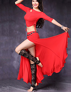 cheap Belly Dance Wear-Belly Dance Outfits Women's Performance Modal Split Bandage Half Sleeves Dropped Skirts Top