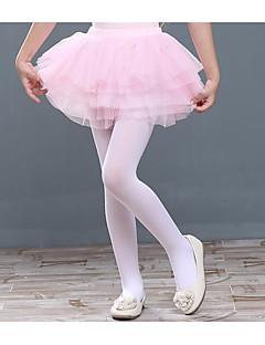 女の子 ソリッド ポリエステル スカート 冬 キュート ホワイト ピンク パープル ライトブラウン