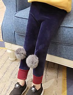 billige Bukser og leggings til piger-Pige Bukser Ensfarvet Vinter Efterår Sødt Sort Marineblå