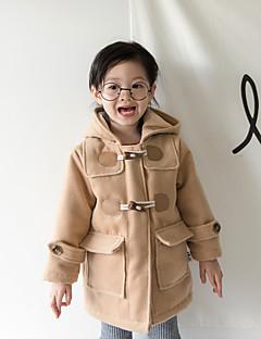 女の子 ソリッド シルク ジャケット&コート 長袖 キュート ブラック ルビーレッド キャメル